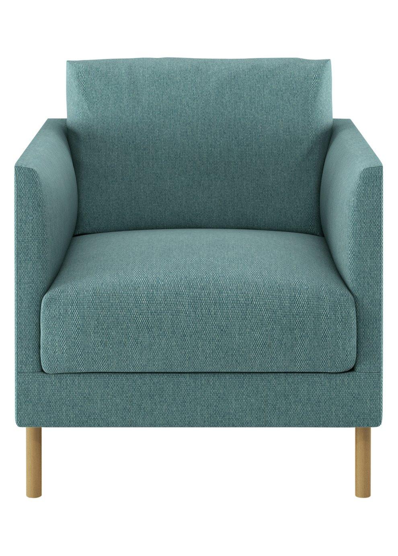 Habitat Hyde Teal Blue Fabric Armchair