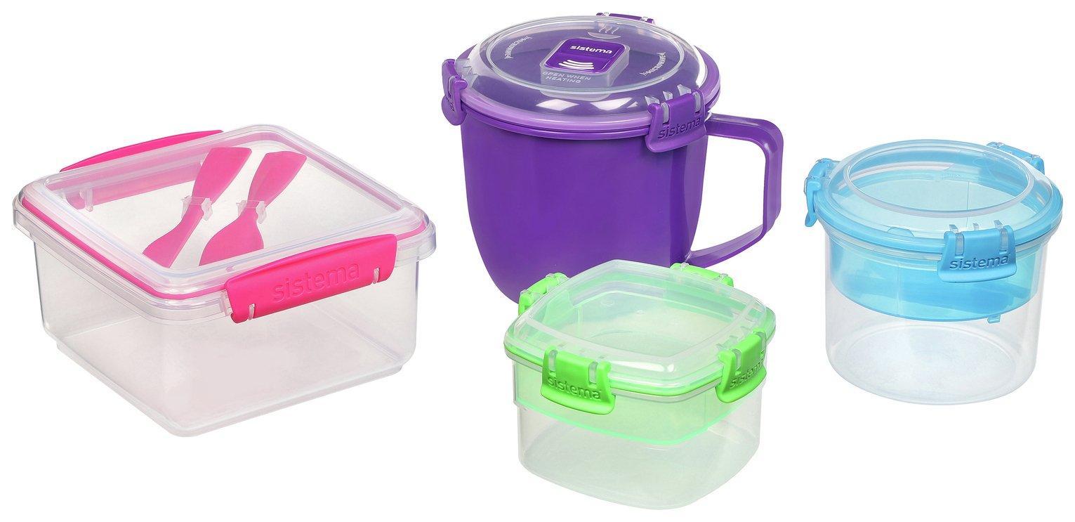 Sistema On the Go Food Storage Set - 4 Pack