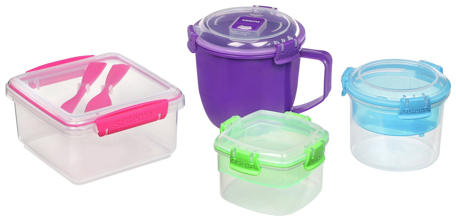 Buy Sistema On The Go Food Storage Set   4 Pack | Food Storage | Argos