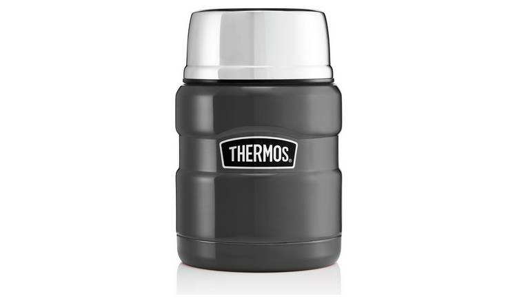 Thermos Stainless Steel King Gun Metal Food Flask - 470ml