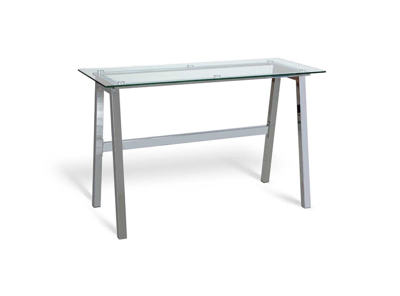 Habitat Mirano Office Desk - Clear Glass