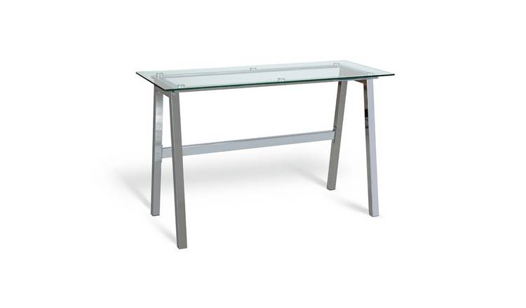 Habitat Mirano Office Desk - Clear Glass