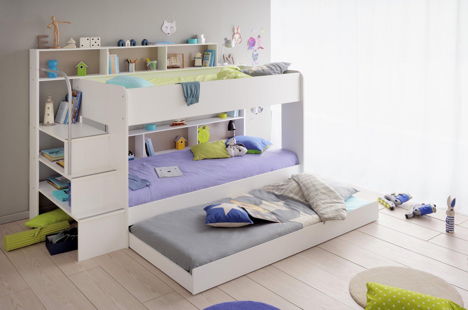 Parisot Bibop Bunk Bed with Step Storage Drawer - White