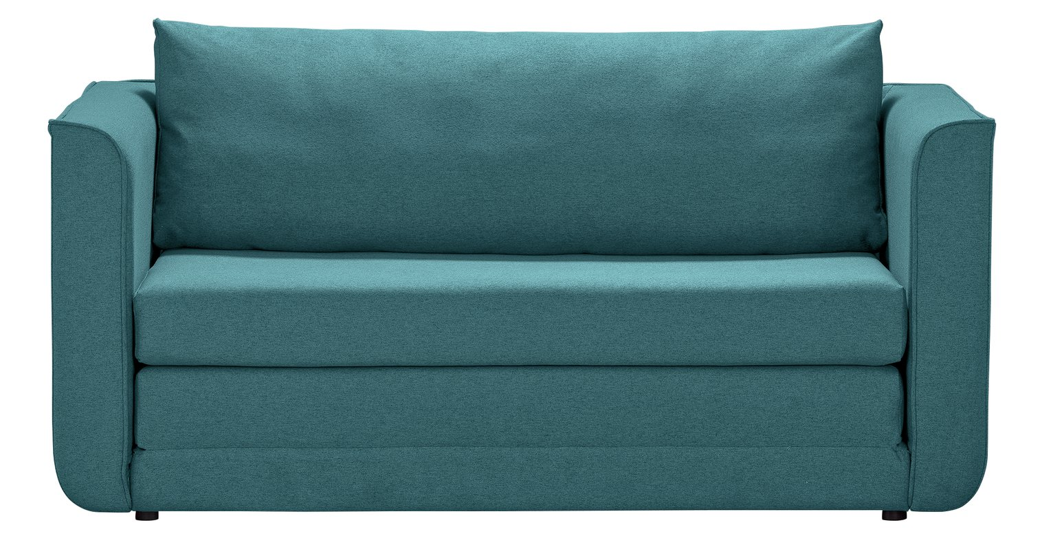 Argos Home Ada 2 Seater Fabric Sofa Bed - Teal