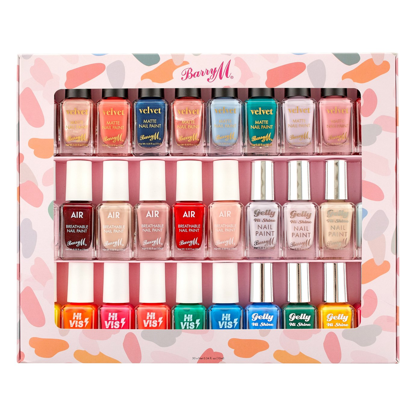 Barry M Cosmetics Nail Paint Gift Set x 30
