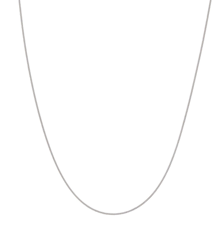 Revere 9ct White Gold Fine Curb 22inch Chain