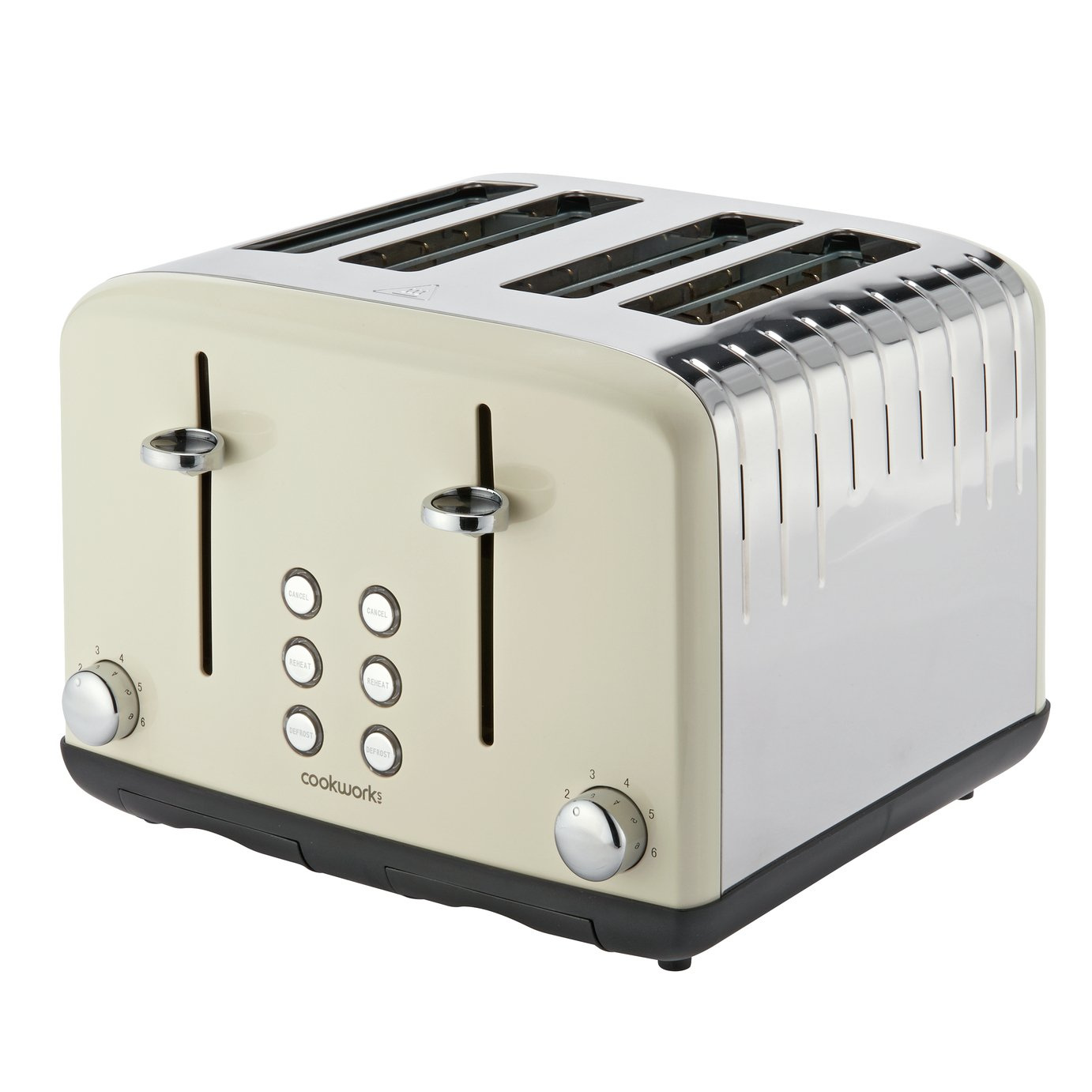 Cookworks Pyramid 4 Slice Toaster - Almond