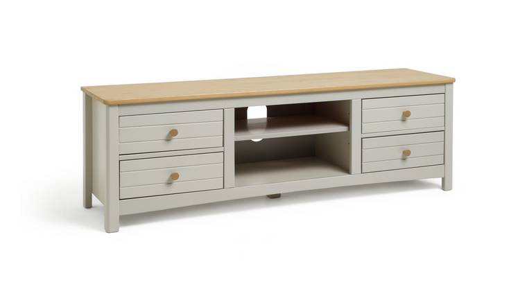 Argos Home Bournemouth 4 Drawer TV Unit - Light Grey