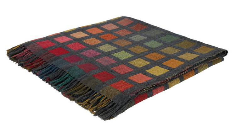 Habitat Esther Wool & Silk Throw - 130x170cm - Multicoloured