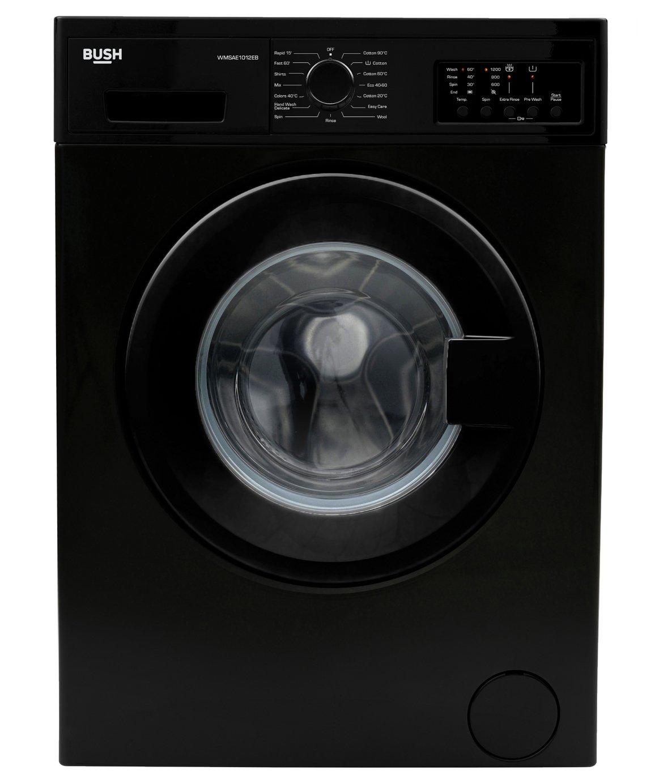 Bush WMSAE1012EB 10KG 1200 Spin Washing Machine - Black