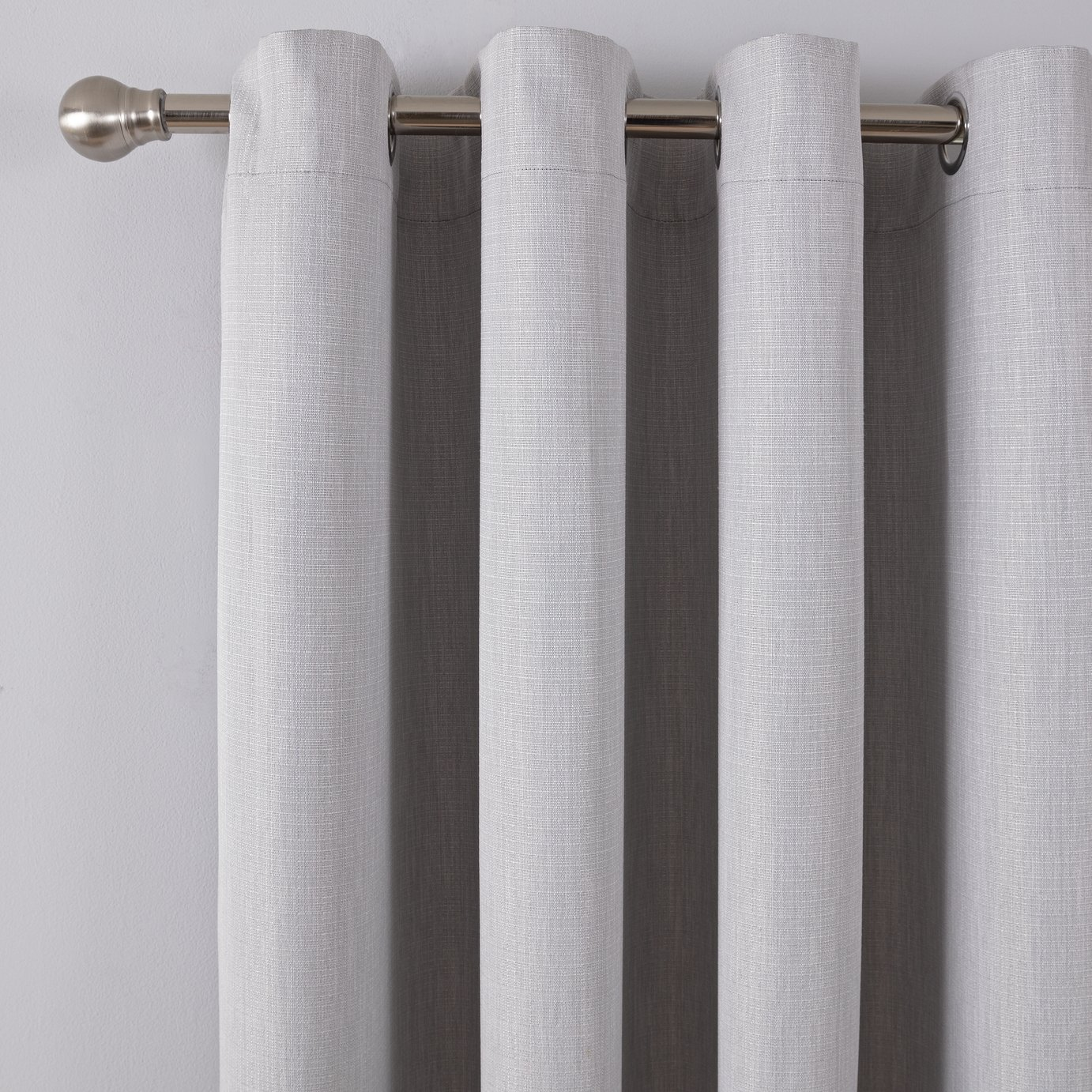 Argos Home Linen Look Eyelet Curtains - Grey