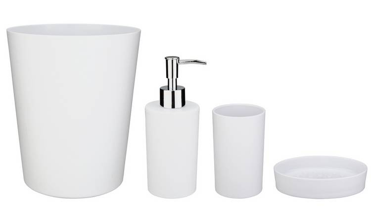 Argos Home 4 Piece Bathroom Accessory Set - White