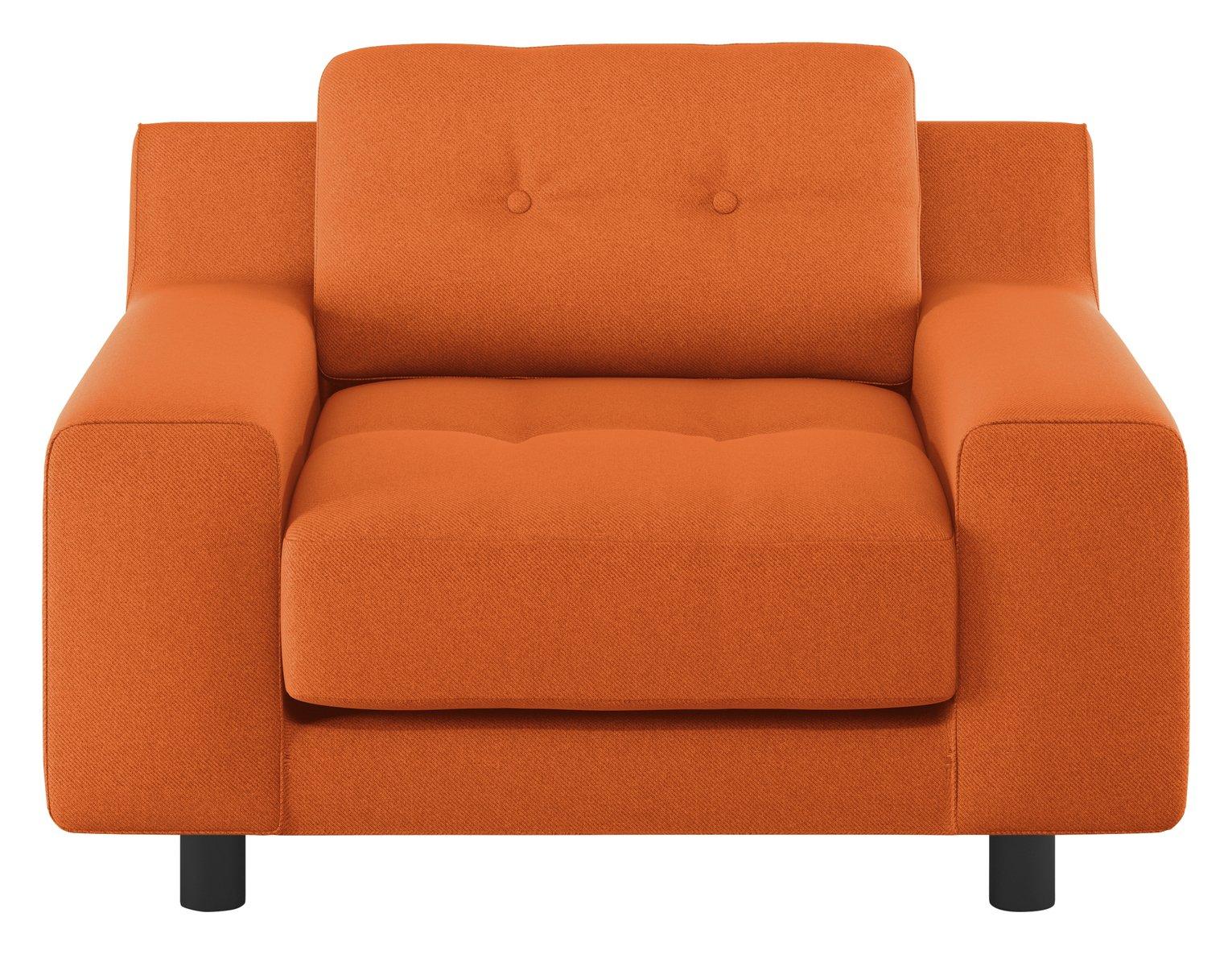 Habitat Hendricks Orange Fabric Armchair
