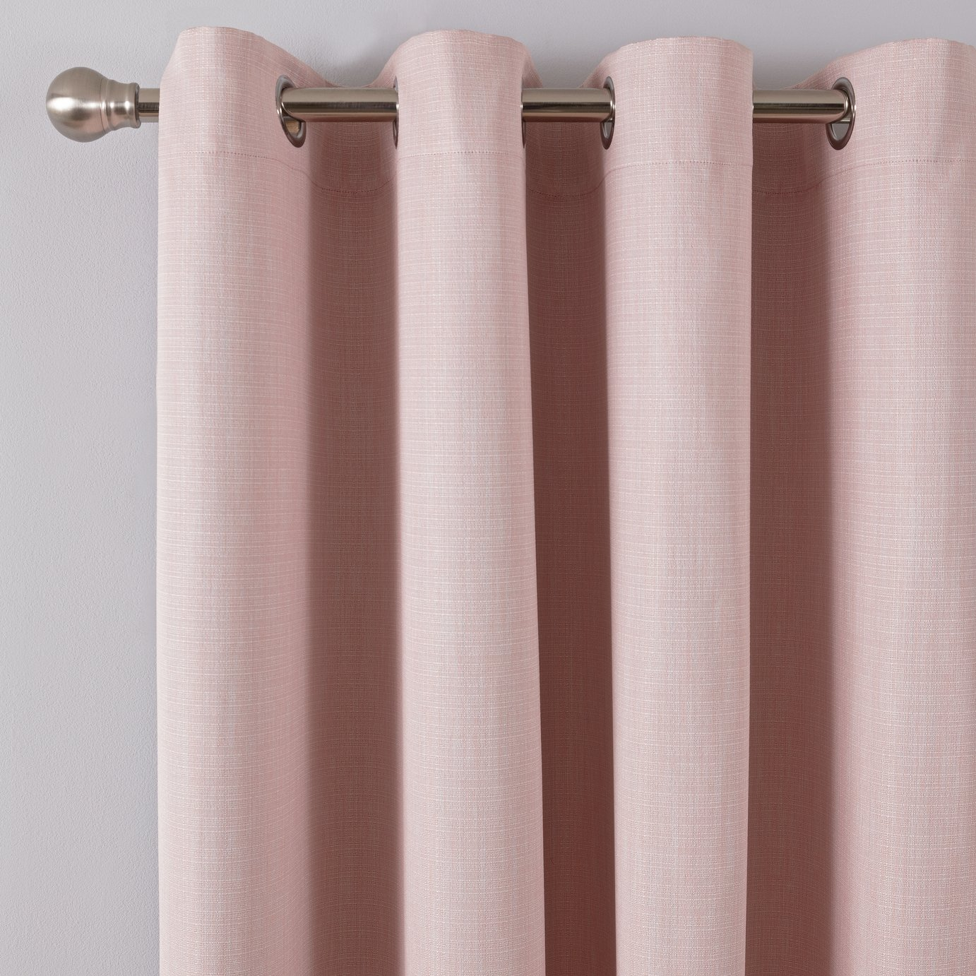 Argos Home Linen Look Eyelet Curtains - Blush