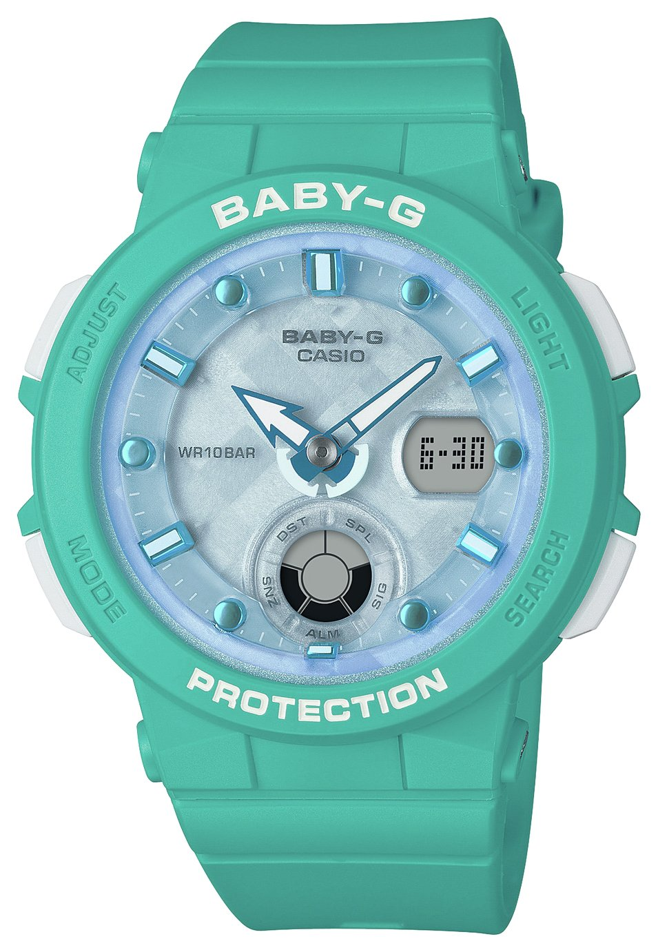 Casio Baby G Ladies Aqua Rubber Strap Watch