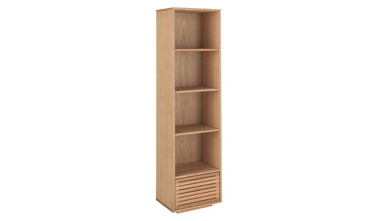 Habitat Max Oiled Oak Bookcase With Storage Drawer