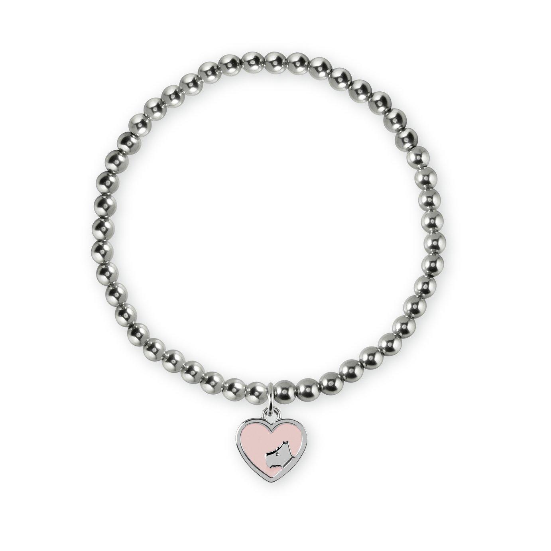 Radley London Sterling Silver Dog Head Heart Charm Bracelet