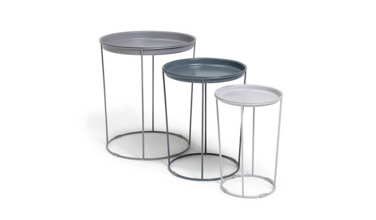 Argos Home Finley Nest of 3 Tables - Grey
