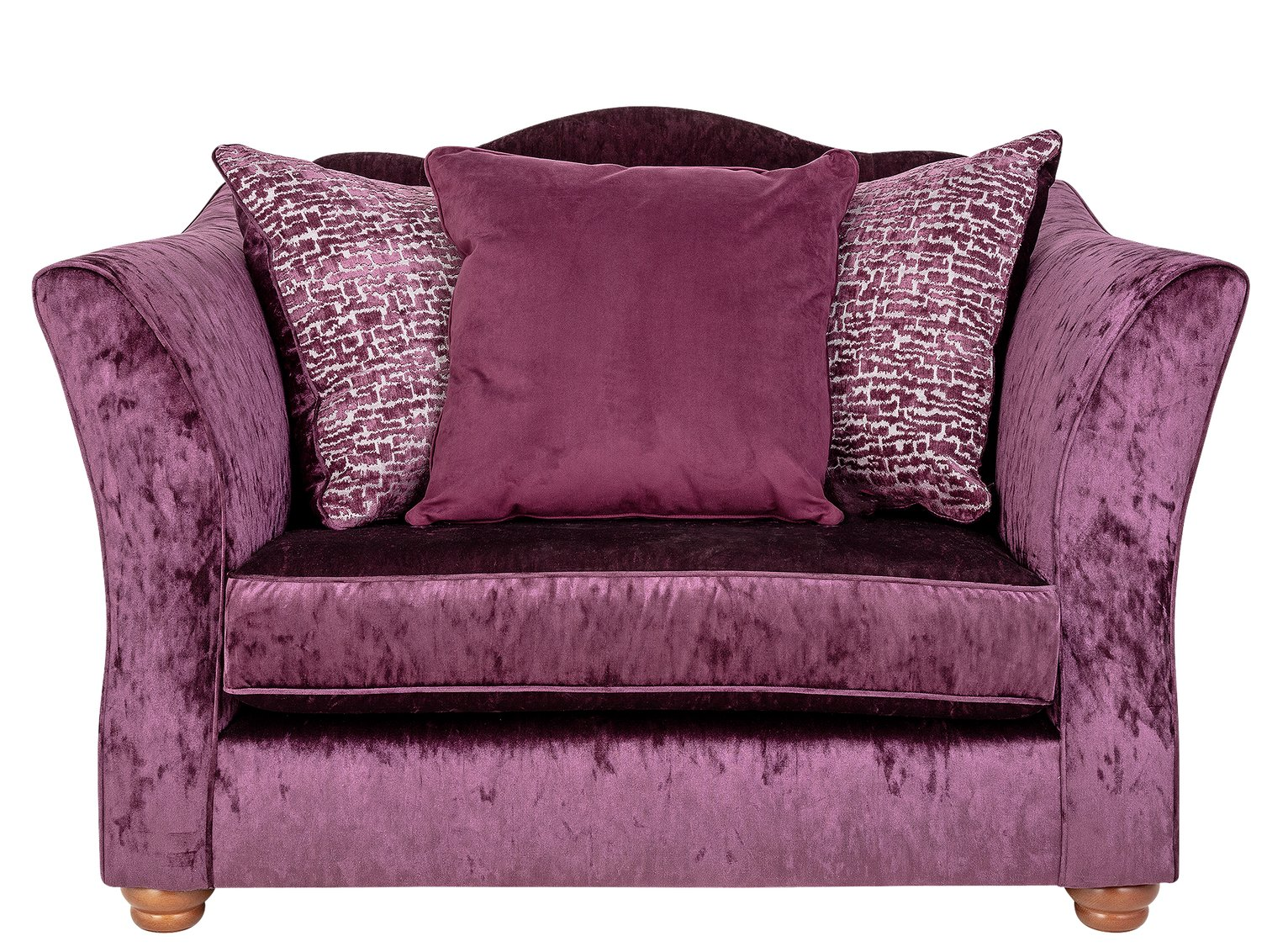 Argos Home Fantasia Velvet Cuddle Chair - Purple