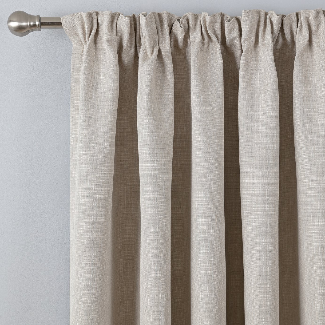 Argos Home Thermal Blackout Pencil Pleat Curtains - Natural