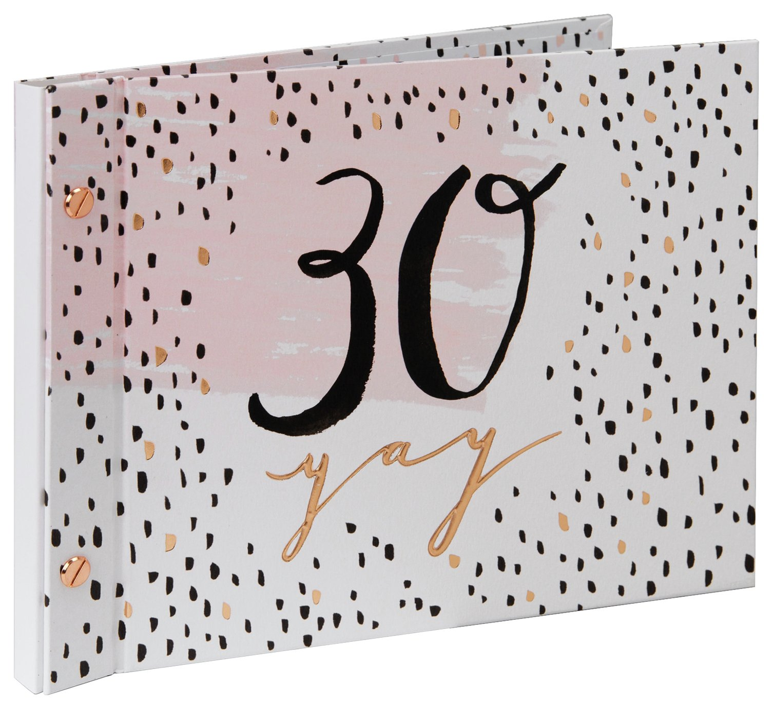 Hotchpotch Luxe 30th Birthday Guest & Photo Book - Rose Gold