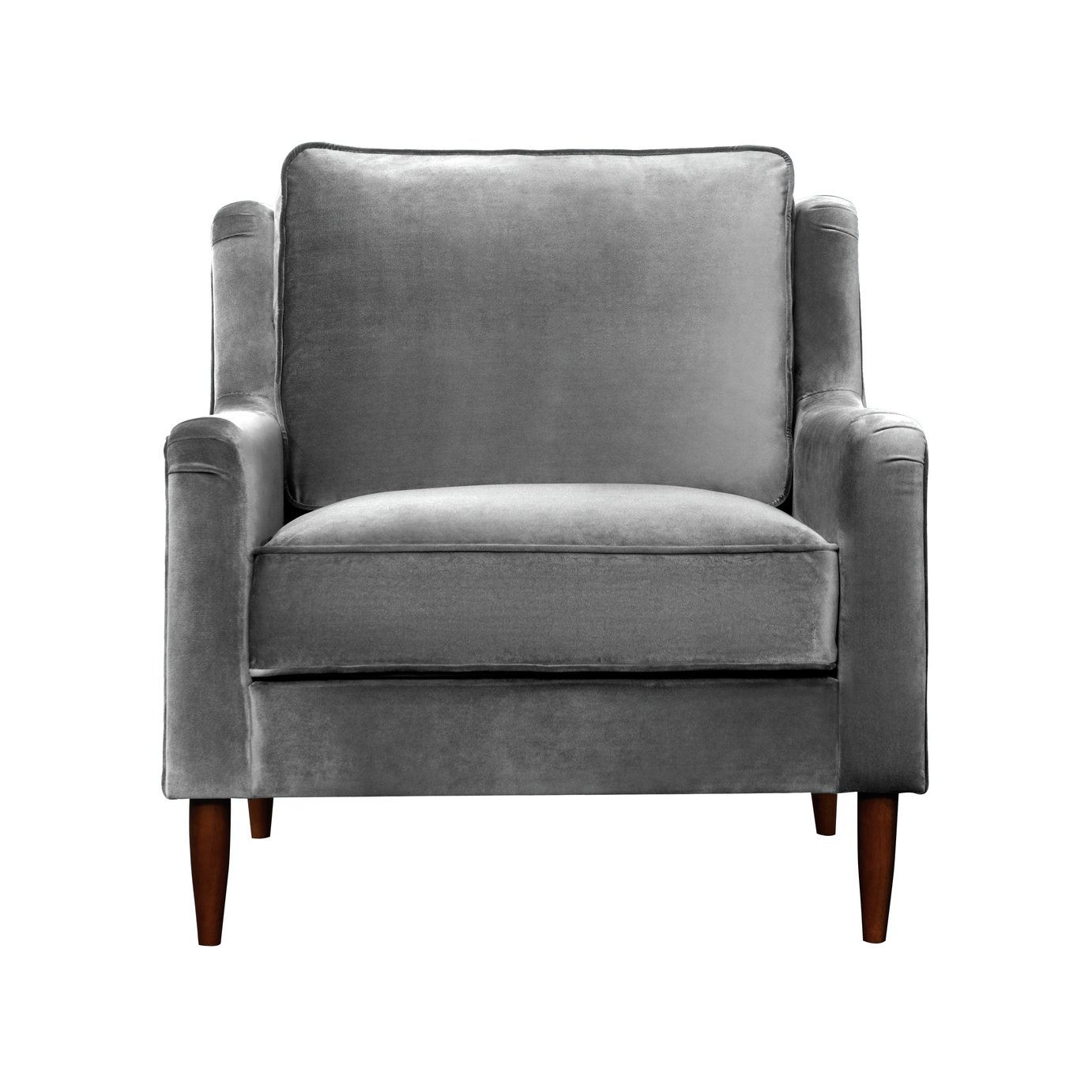 Argos Home Jacob Velvet Armchair - Grey