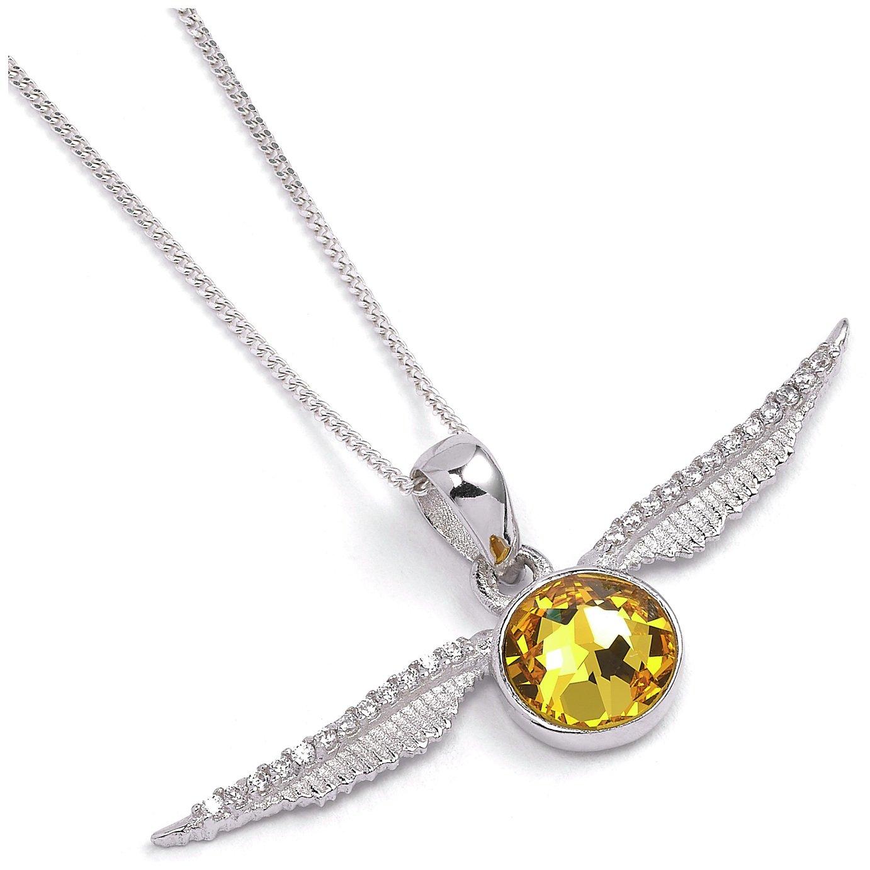 Harry Potter Sterling Silver Snitch Pendant Necklace