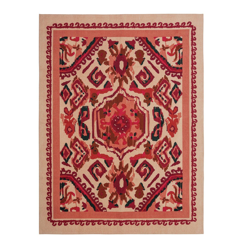 Habitat Traditional Inca Cotton Rug - 120x160cm - Red