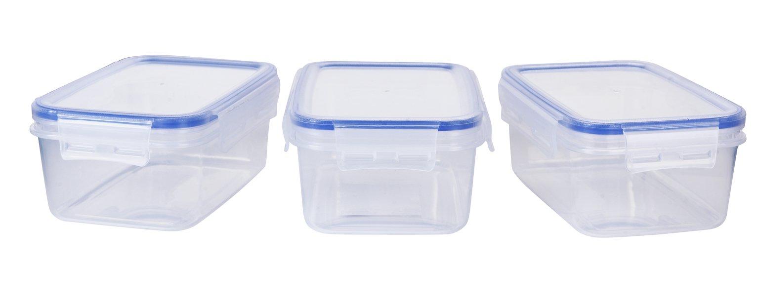 Argos Home Klip Lock Storage Set - 3 Pack