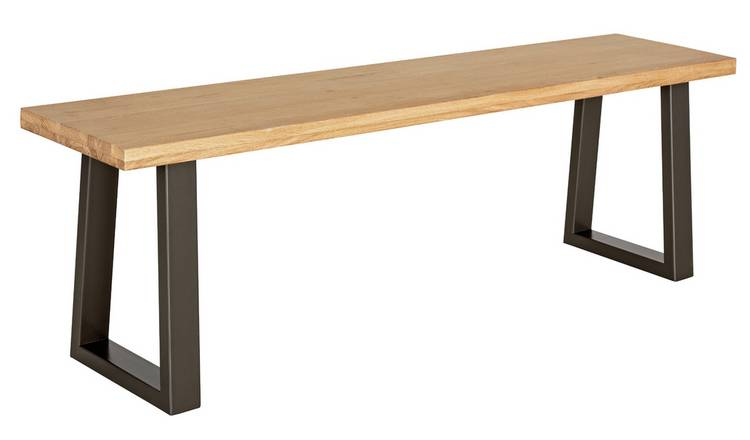 Argos Home Solid Wood 3 Seater Dining Bench