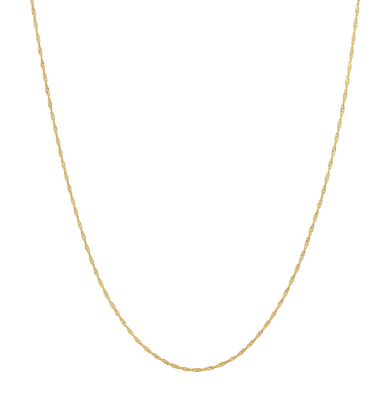 Revere 9ct Yellow Gold Twist Chain Necklace