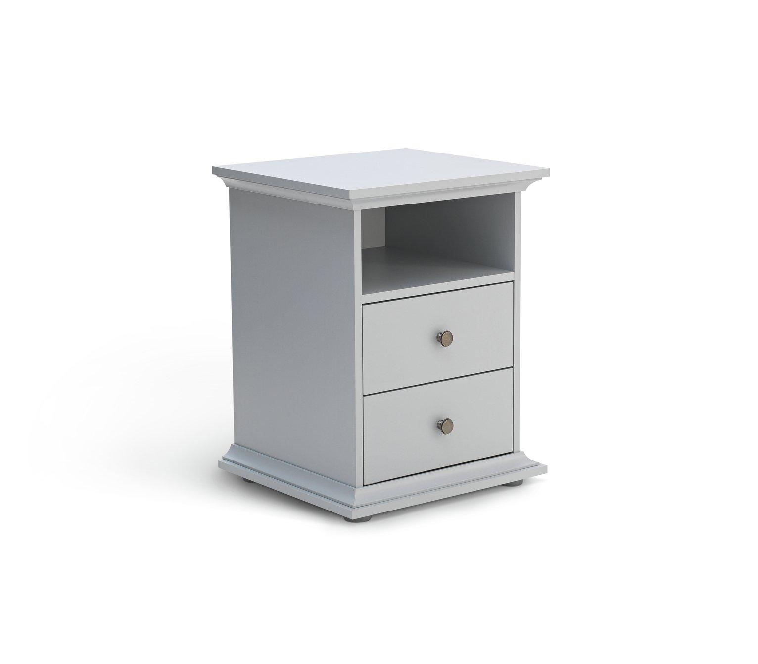 Parisot Heathland 2 Drawer Bedside Cabinet