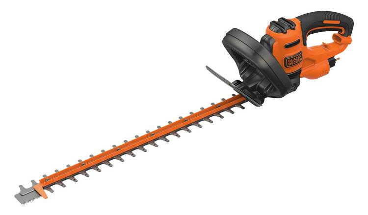 Black + Decker 55cm Corded Hedge Trimmer - 500W