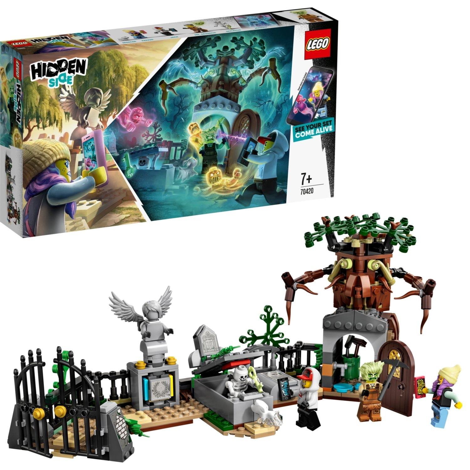 LEGO Hidden Side Graveyard Mystery AR Lego Games Set 70420
