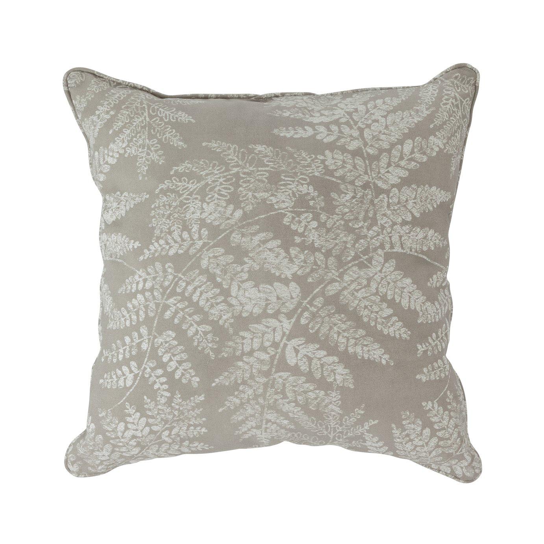 Argos Home Fern Leaf Cushion - Grey