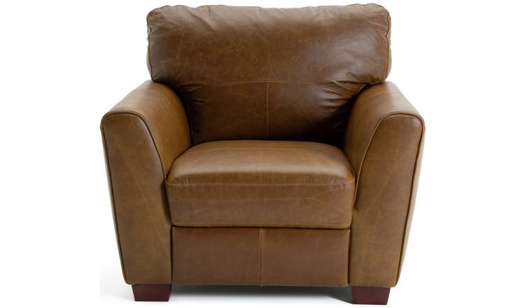 Habitat Milford Leather Chair - Tan