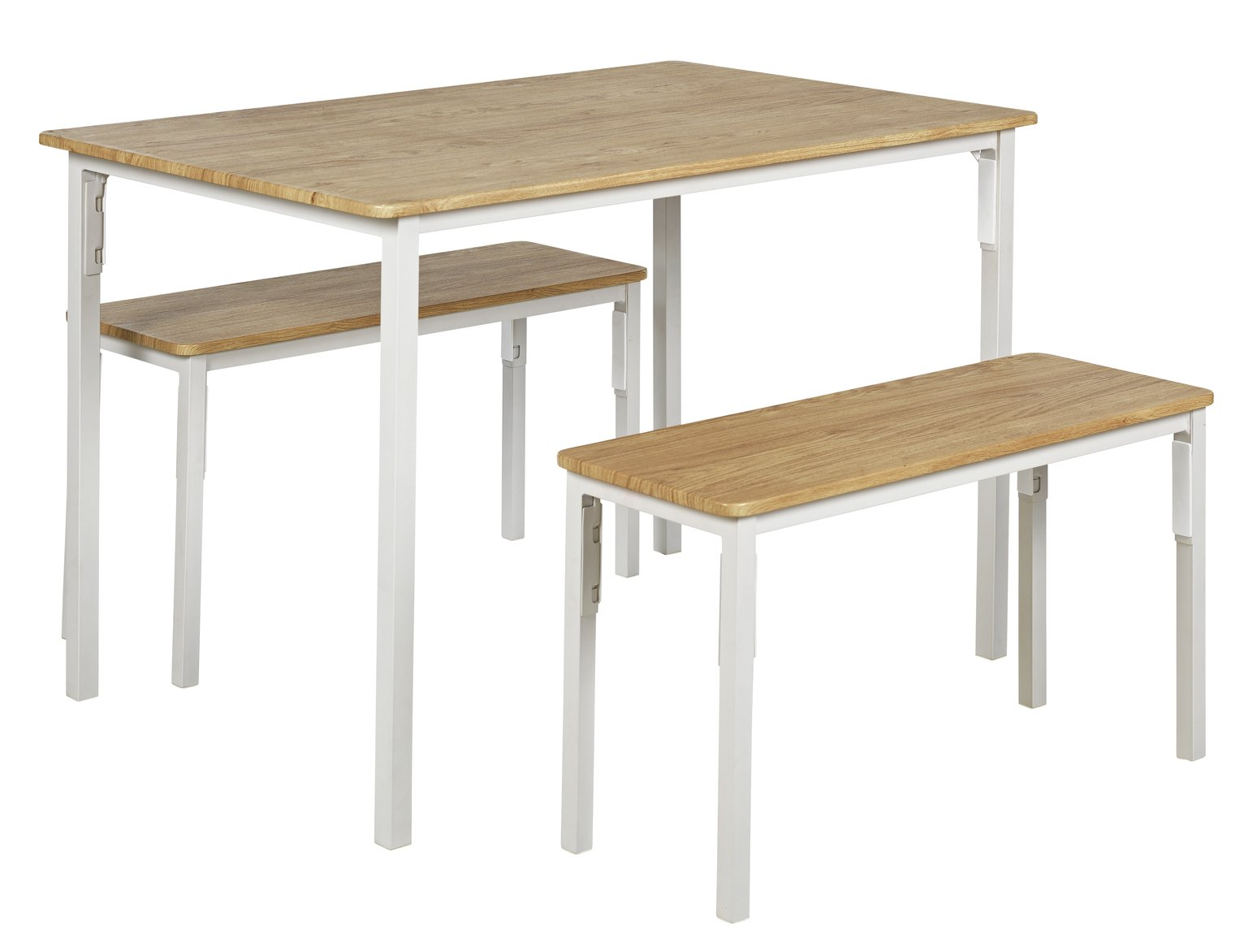 Argos Home Bolitzo Table & Bench Set - Oak & White