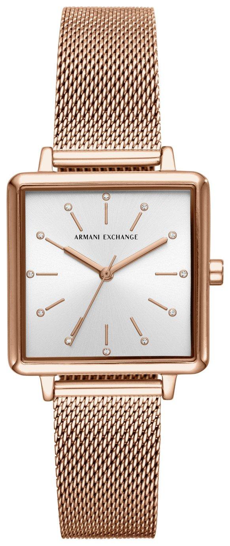 Armani Exchange Ladies Rose Gold Mesh Bracelet