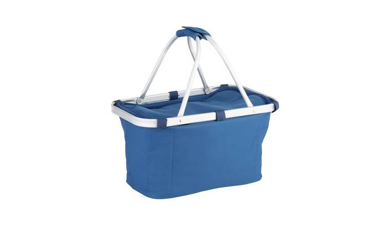 Argos Home Blue Basket Style Cool Bag