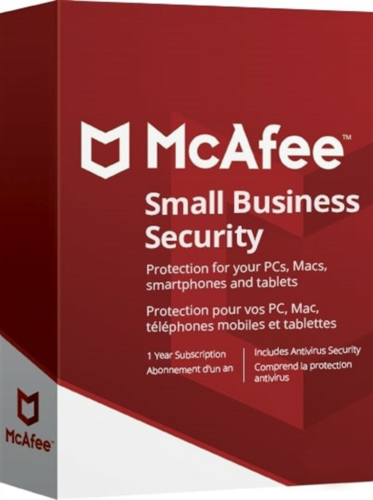 McAfee Small Business Security 1 Year 5 Devices