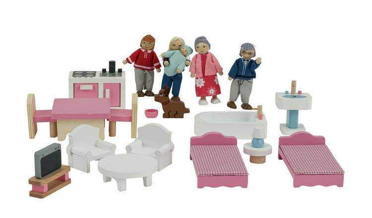 Jupiter Workshops Wooden Dolls House Furniture Playset