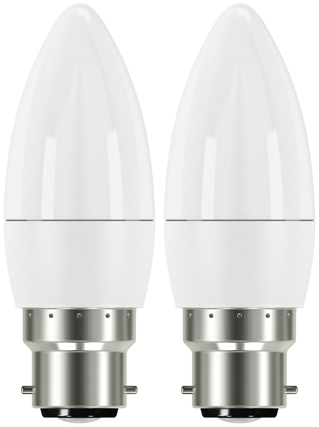 Argos Home 5W LED BC Frosted Candle Light Bulb - 2 Pack