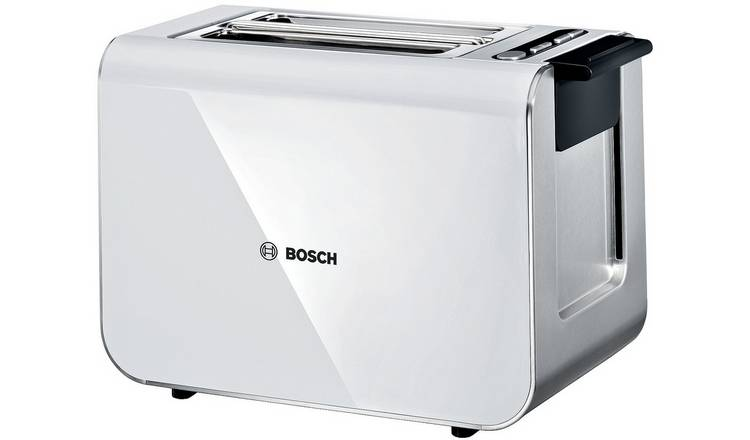 Bosch TAT8611GB Styline 2 Slice Toaster - White