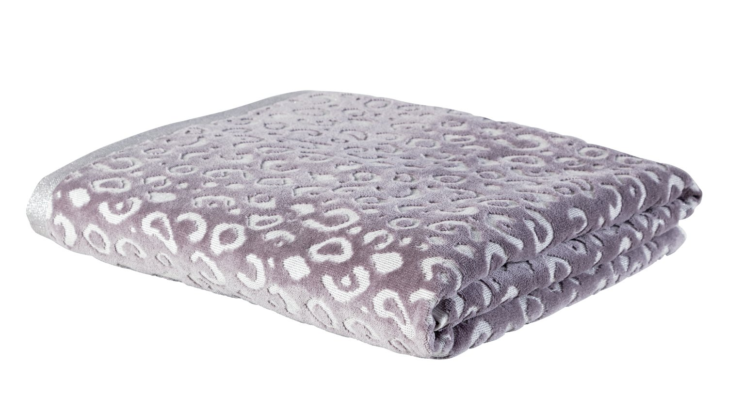 Argos Home Sparkle Leopard Bath Sheet - Grey