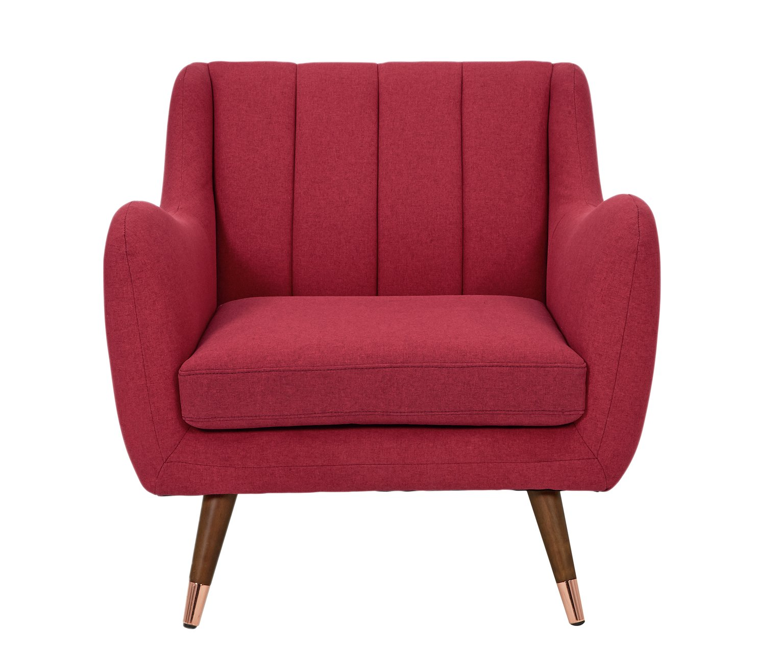 Argos Home Leila Fabric Armchair - Red