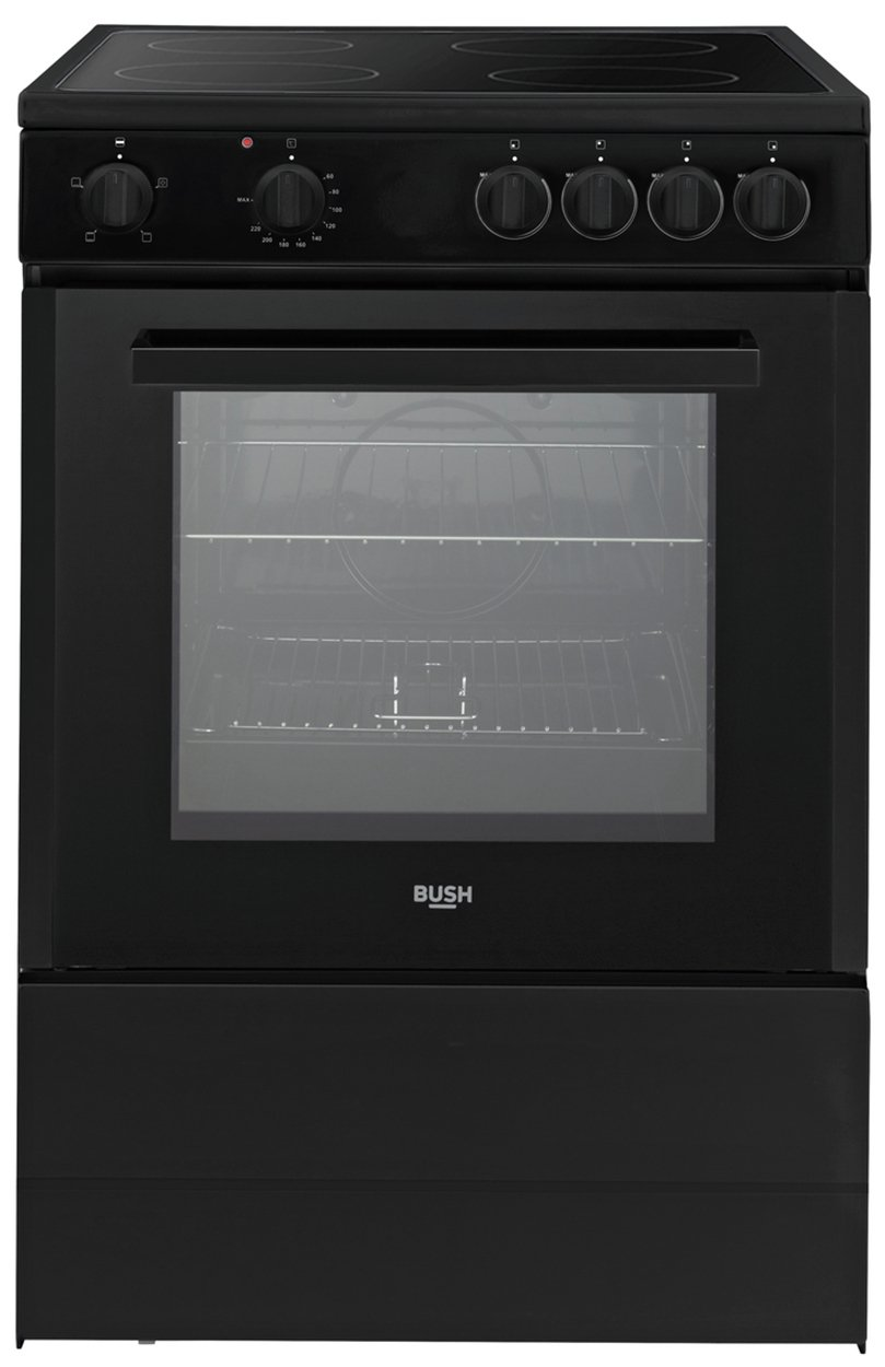 Bush B60SCBX 60cm Single Electric Cooker - Black