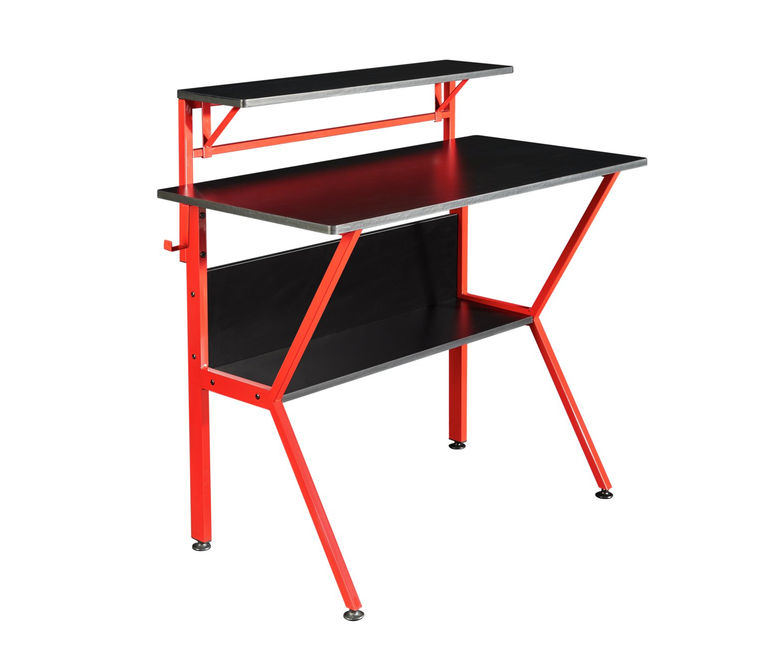 Virtuoso Outlaw Gaming Desk - Black & Red