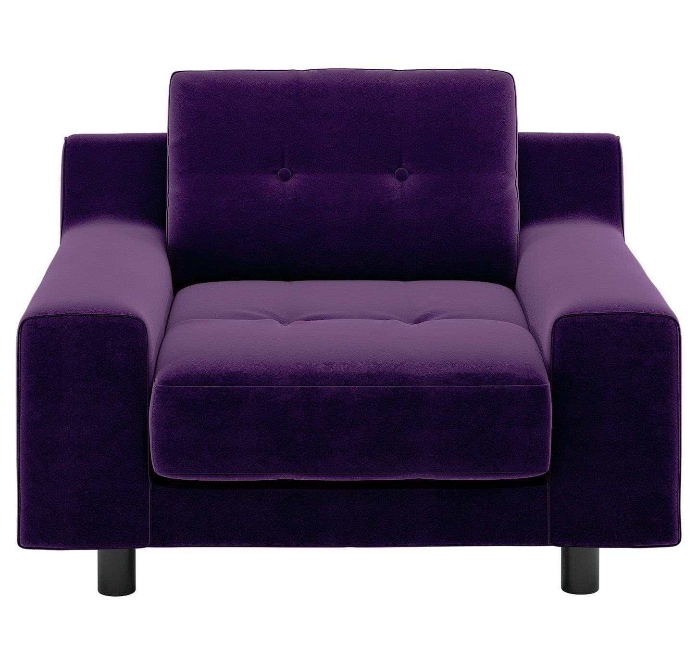 Habitat Hendricks Purple Velvet Armchair