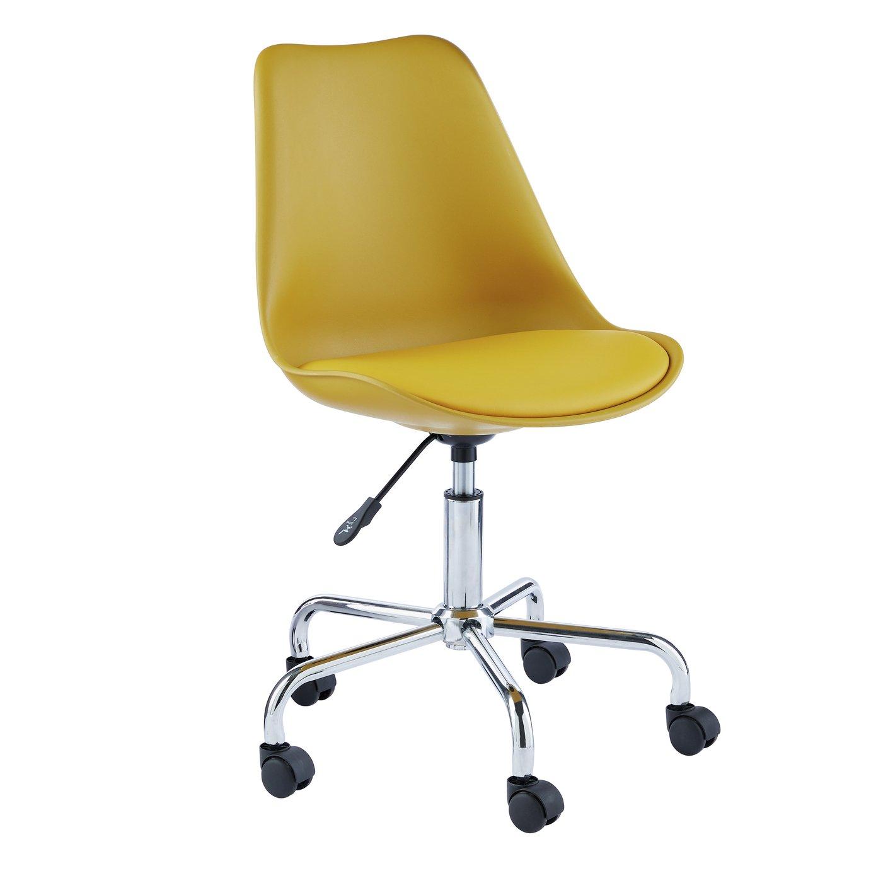 Habitat Ginnie Office Chair - Yellow