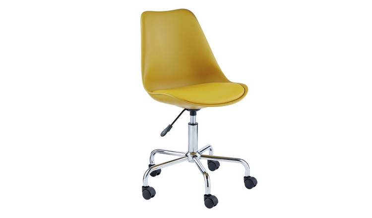 Habitat Ginnie Office Chair - Yellow